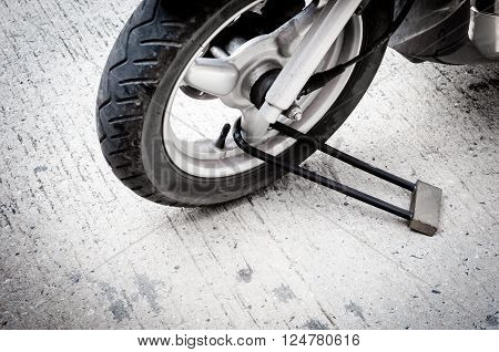 motoycycle is parking with proactive security by masterkey