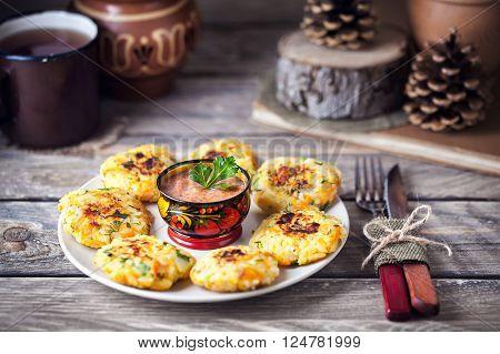 Russian Cutlets On Shrovetide Holidays