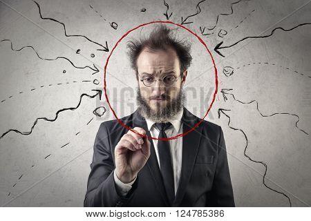 Invulnerable businessman