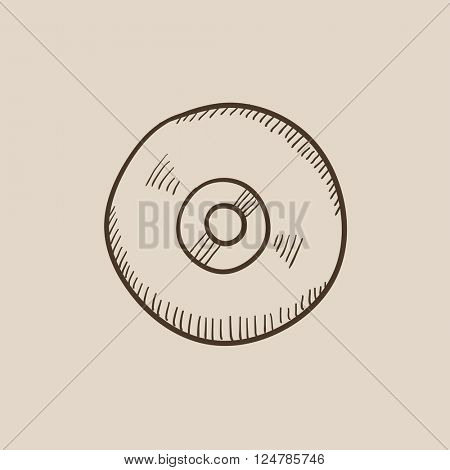 Reel tape deck player recorder sketch icon.