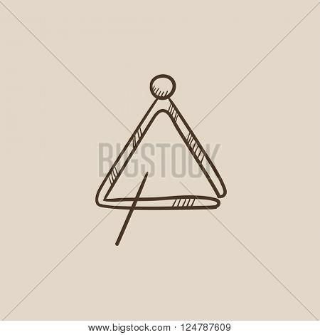 Triangle sketch icon.