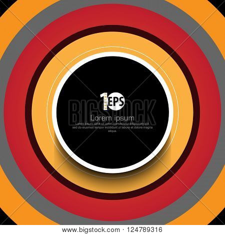 overlapping centered round frame abstract design. eps10 vector