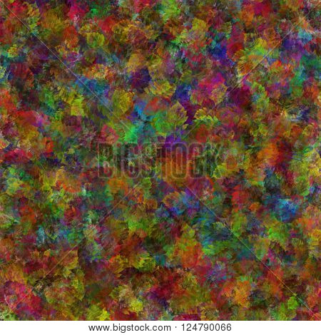 abstract graphic prints elm leaves colorful bright colors the substrate of the spots the background for the scrapbook