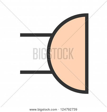 Buzzer, alarm, button icon vector image. Can also be used for electric circuits. Suitable for use on web apps, mobile apps and print media.