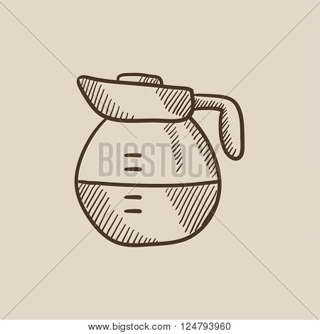 Carafe sketch icon.