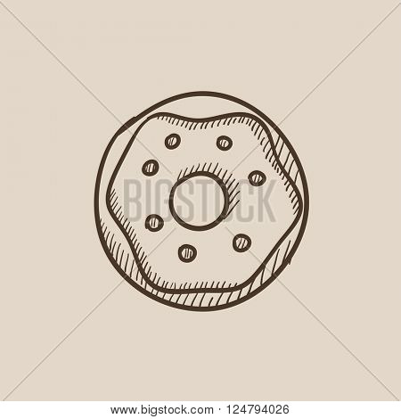 Doughnut sketch icon.