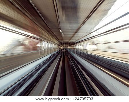Motion blur of Japanese Railway