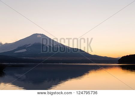 Fuji mountain at evening