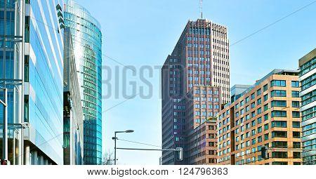 Potsdamer Platz - business architecture. Berlin Germany
