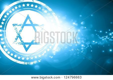 Glittering blue stamp: Star of david with some soft flowing lines