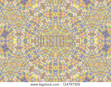 Abstract background with color lines concentric pattern