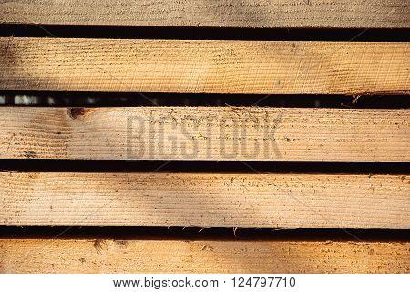 formwork shuttering wood board stacked blue sky
