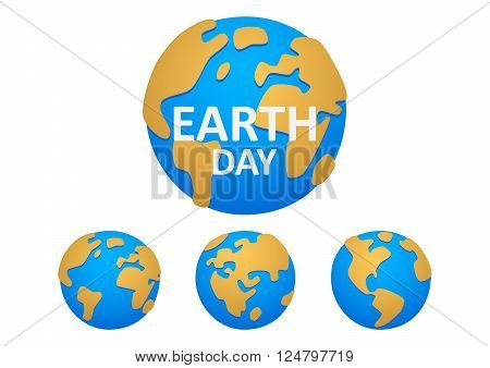 Planet Earth Water and land earth day 3 types
