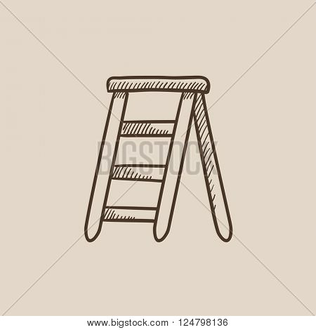 Stepladder sketch icon.
