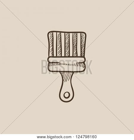 Paintbrush sketch icon.