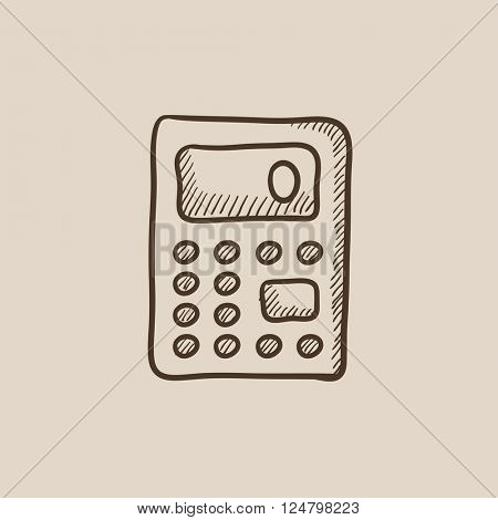 Calculator sketch icon.