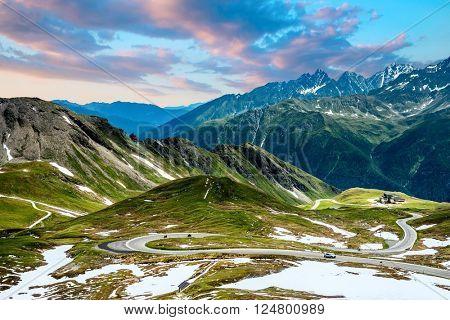 Grossglockner High Alpine Road. Austria, Alps, Europe.