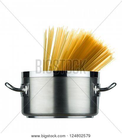 pot with spaghetti