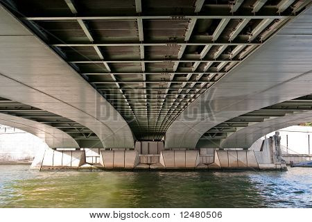 Underside View of the Alma Bridge
