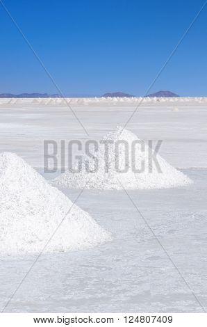 South America - salt desert Salar de Uyuni in Bolivia.