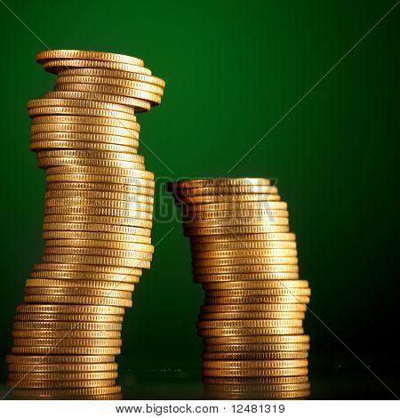 goldenen Münzen
