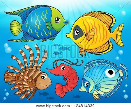 Coral fauna theme image 4 - eps10 vector illustration.