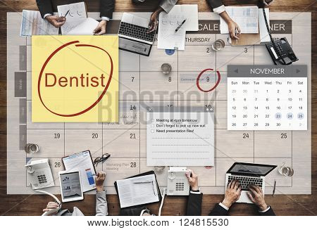Dentist Healthcare Medical Schedule Appointment Concept