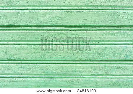 Weathered Light Green Hangar Wall.
