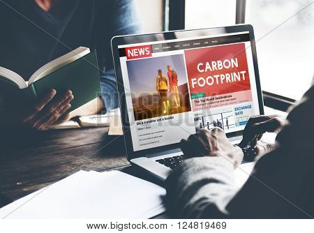 Carbon Footprint Environmental Conservation Concept