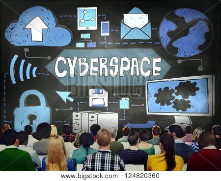 Cyberspace Technology Cyber Online Virtaul Reality Concept