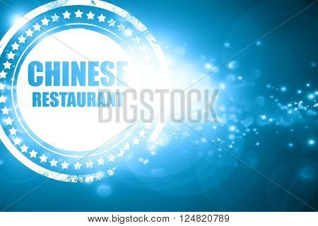 Glittering blue stamp: Delicious chines restaurant with some smooth lines