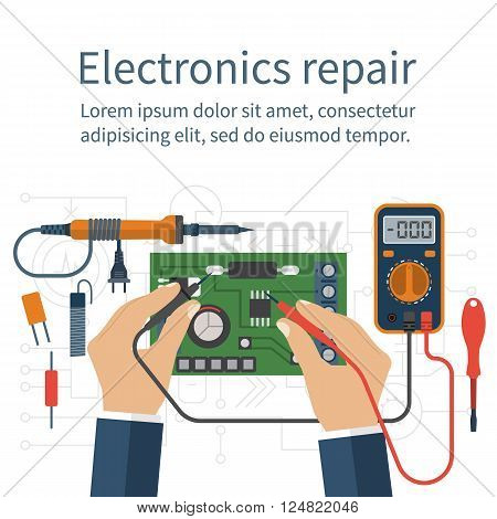 Electronics Repair. Tester Checking
