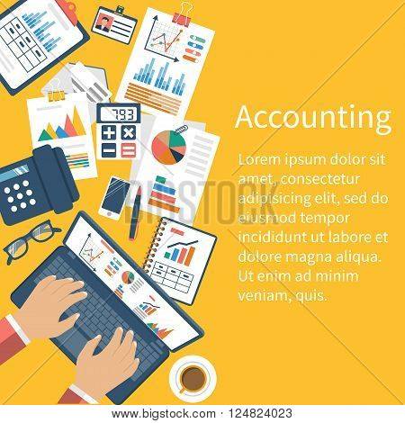 Accounting Concept. Organization Process