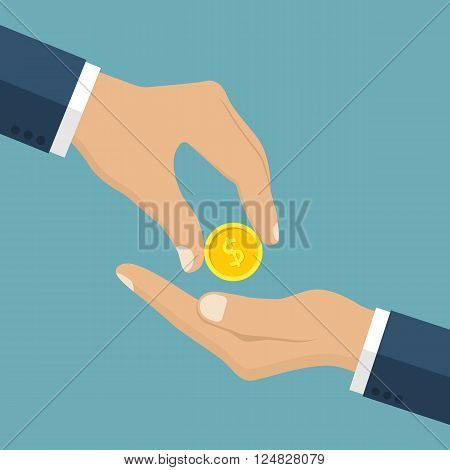 Businessman Gives Man A Gold Coin