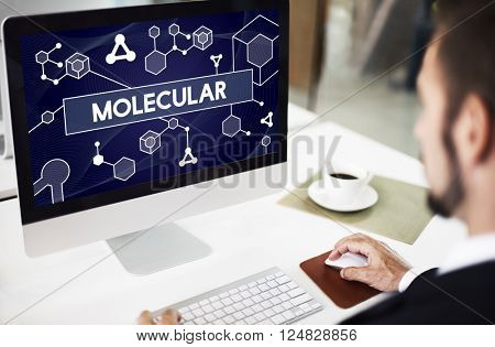 Molecular Atom Chromosome Genetic Lab Macro Concept