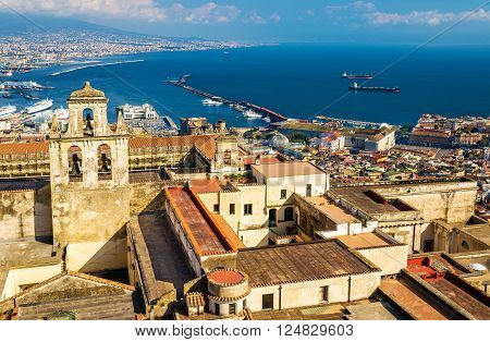 View of the Certosa di San Martino in Naples, Italy