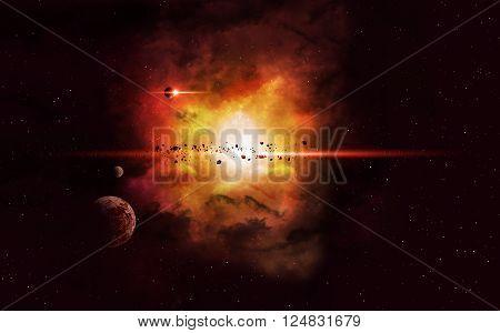 Deep Space Imaginary Nebula