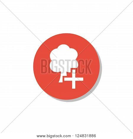 Ecology Icon In Vector Format. Premium Quality Ecology Icon. Web Graphic Ecology Icon Sign On Red Ci
