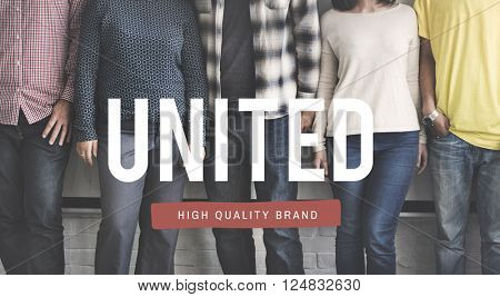 United Unity Teamwork Support Concept