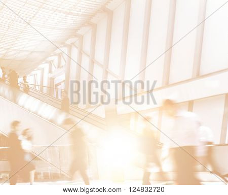 Business People Exposure Crowed City Life Concept