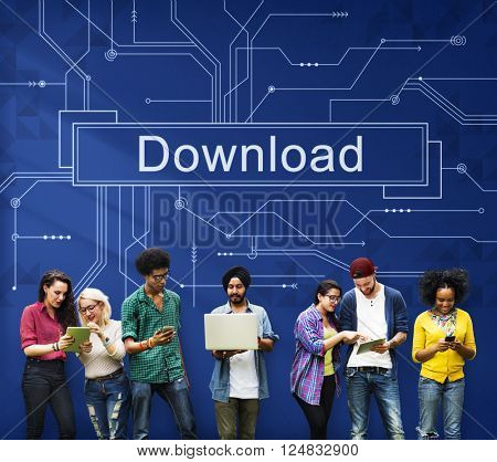 Download Files Information Technology Sharing Concept