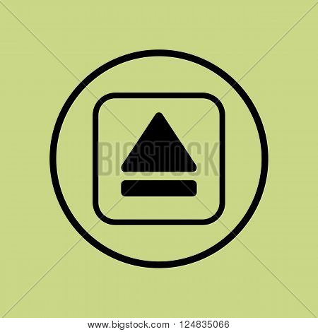 Music Eject Icon In Vector Format. Premium Quality Music Eject Icon. Web Graphic Music Eject Icon Si