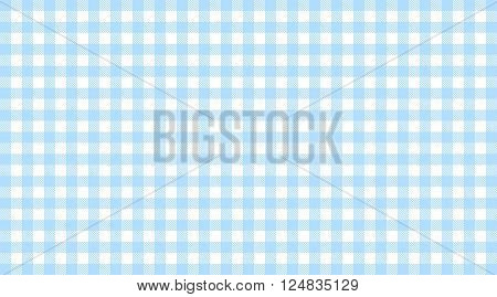 Traditional checkered tablecloth pattern light blue white