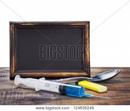 drugs and for the manufacture of all lie on a wooden table on a white background