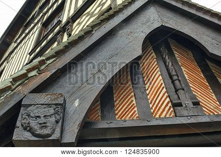 Pont-l'Eveque (Calvados Normandy France): typical old half-timbered building