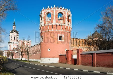 Tower and The Gate Church the Donskoy Monastery Moscow. Russia