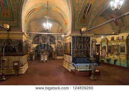 Tutaev, Russia - March 28, 2016.  Resurrection Cathedral in a Tutaev, Russia. Golden Ring Travel