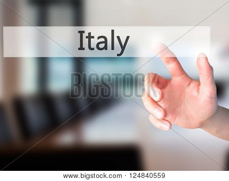 Name - Hand Pressing A Button On Blurred Background Concept On Visual Screen.
