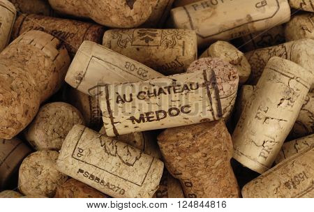 Paris France - mach 17 2009 : close up of french wine cork
