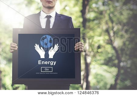 Energy Conservation Earth Planet Concept